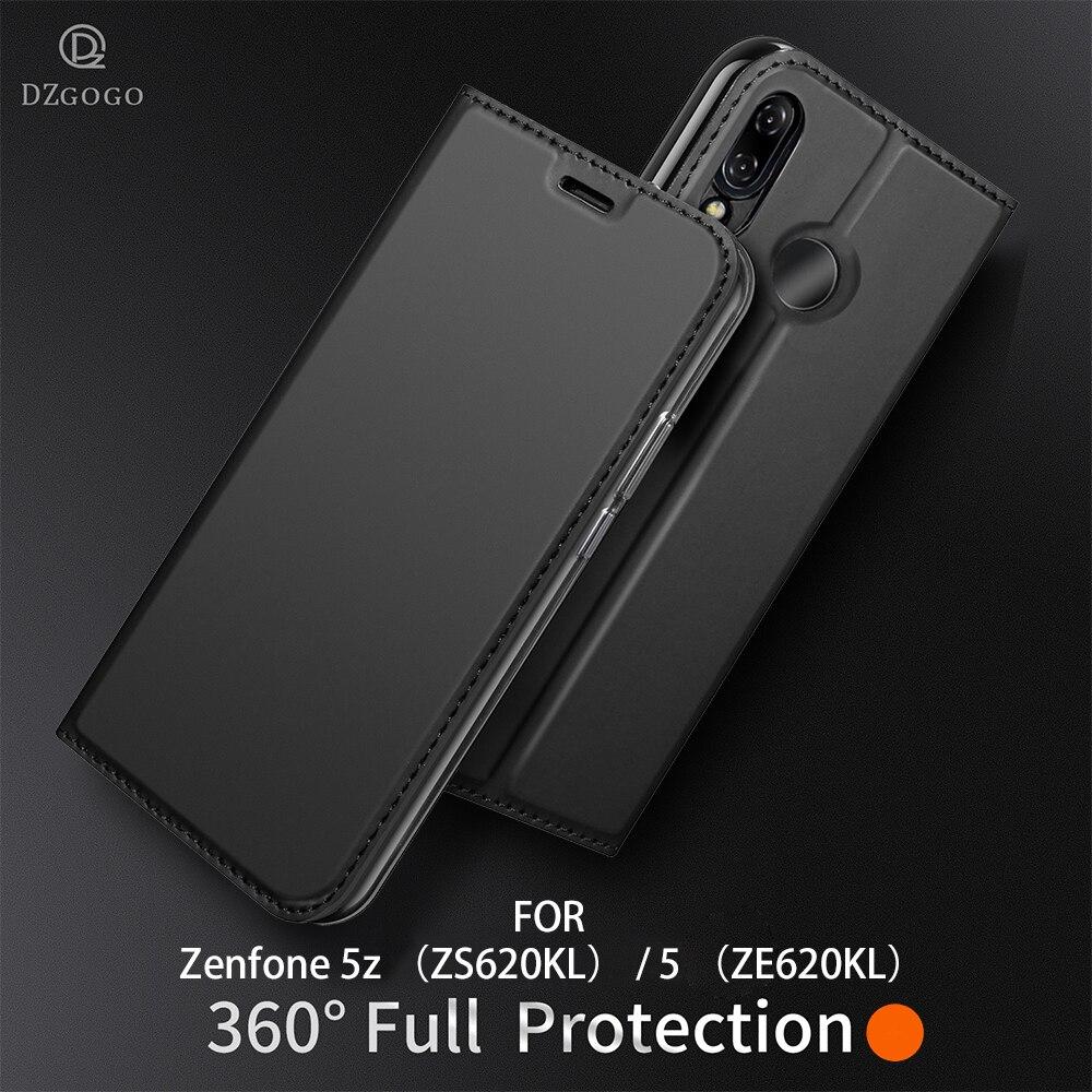 Pour ASUS Zenfone 5z ZS620KL (5 ZE620KL) cas PU Flip en cuir CaseFor ASUS 5 ZE620KL Zenfone 5z ZS620KL Portefeuille Couverture capa DZGOGO
