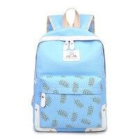 Fashion Brand Set Backpack Women Flower Printing Backpack Waterproof Canvas Backbag School Bags Teenagers Girls Laptop