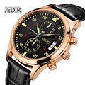 Men Watches JEDIR Top Brand Montre Homme Chronograph 24 Hours Calendar Wristwatch Leather Quartz Watch megir relogio masculino