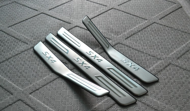 High Quality Stainless Steel Scuff Plate Door Sill For 2007 2012 Suzuki SX4 Car Styling