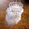 12 color de Nueva originalidad de moda colgante de perlas de Plumas de Regalo Colgante de Estilo Indio Dream Catcher Dreamcatcher Wind Chimes