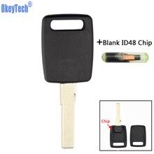OkeyTech Авто смарт-ключ Замена заготовок транспондер брелок для Audi A4 B6 a3 a6 c5 c6 b8 b7 q5 b5 q7 a2 tt ключ хорошего качества
