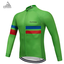 Eyessee Quick Dry Cycling Jersey Long Sleeve 2018 Pro Breathable Men's Shirt Bicycle Wear Racing Tops Cycling Clothing