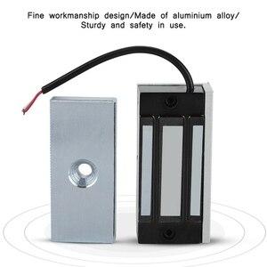 Image 5 - Serrure électromagnétique magnétique électrique de porte de Dc24V 60Kg tenant laccès dentrée Mini