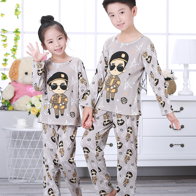 New Arrivals 2019 Spring Children   Pajamas     Set   Baby Long Sleeved Sleepwear Suit Girls Nightwear Pants Boys Tops Kids Gift Autumn