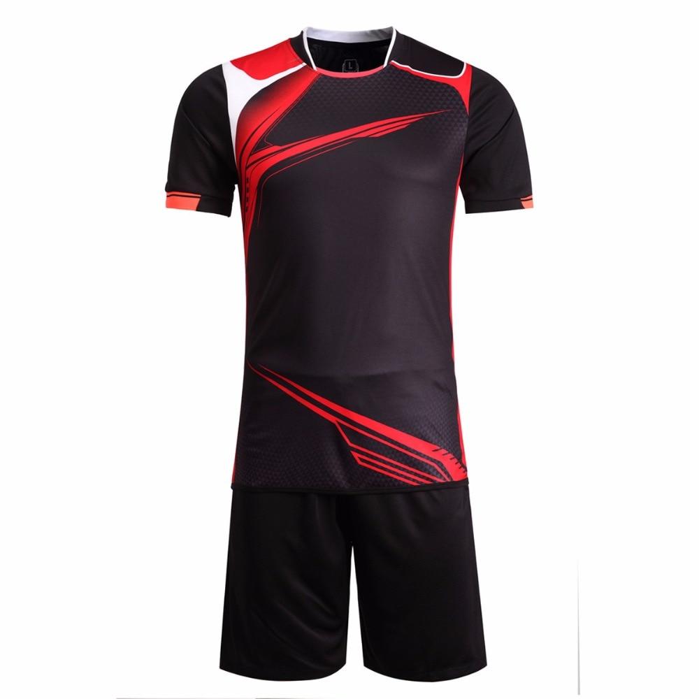 3017a077f Online Shop Mens Football Jerseys Kits Boys Paintless Football Training  Jerseys Set 2017 2016Sports Wear Breathable Soccer Jerseys Kits