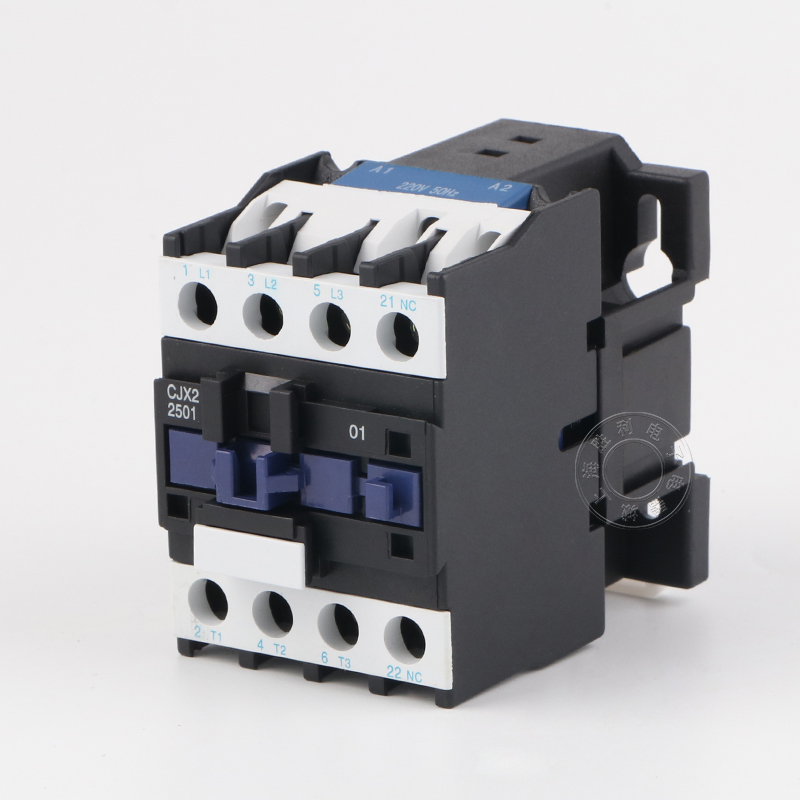 1 pc/lot 3 Phases 1 NO 1NC 25A switches 50HZ 220V/380V DIN rail mounted LC1-D 11 screws Silver contact <font><b>CJX2</b></font>-<font><b>2510</b></font> image