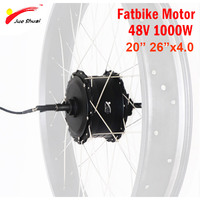 """High Quantity 48V 1000W Hub Motor Rear Electric Motor Fat Tire 20"""" 26"""" 4.0 Brushless Gear Hub Motor Fat ebike for Free Shipping