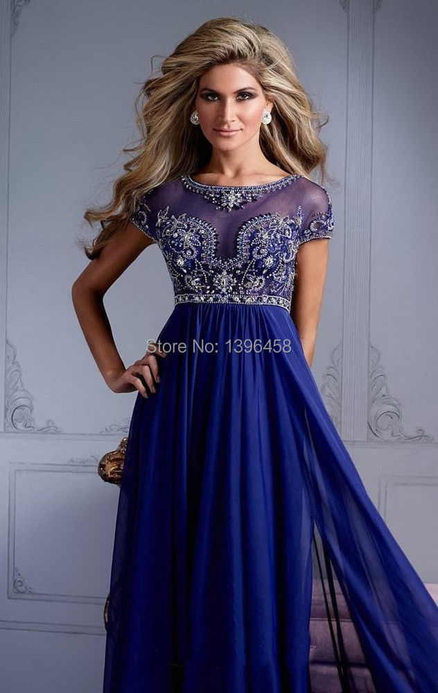 59a67bdf976 Hot sapphire blue prom dress Pageant Dresses-in Prom Dresses from ...