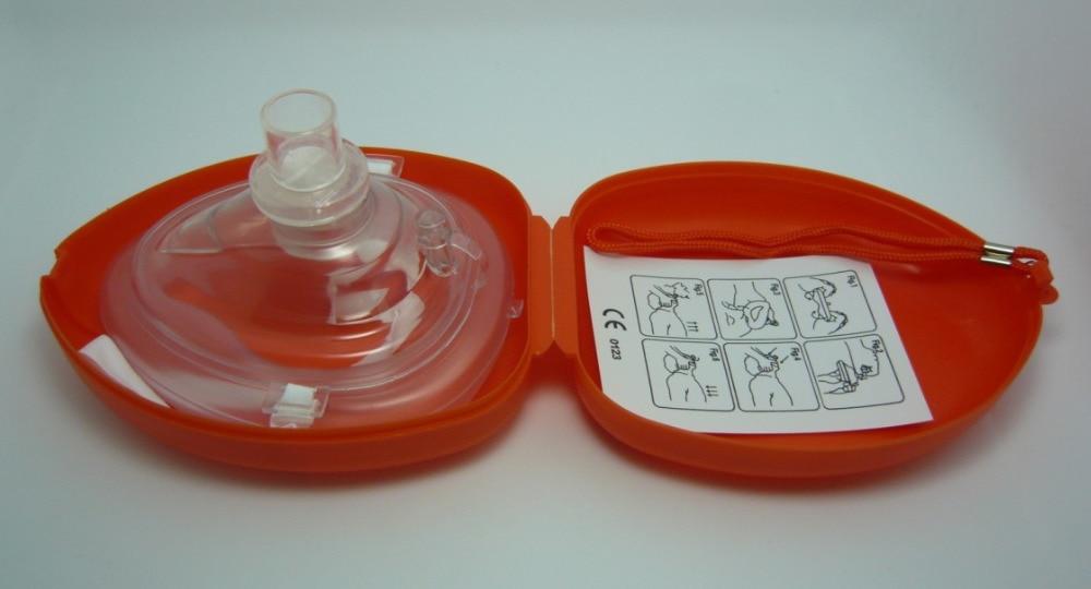 10 stycken HLR-resuscitator Räddningsmaskiner Mouth To Mouth med envägsventil för första hjälpen träning 6 färger valde
