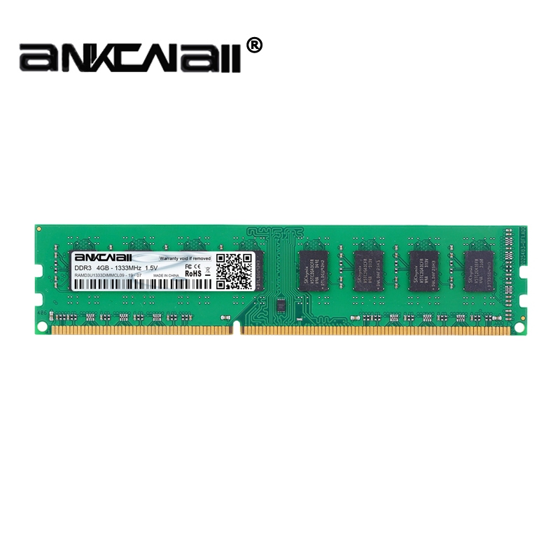 DIMM DDR3 1333/1600MHZ 4GB PC3-10600/12800 For Intel Desktop Memory 4