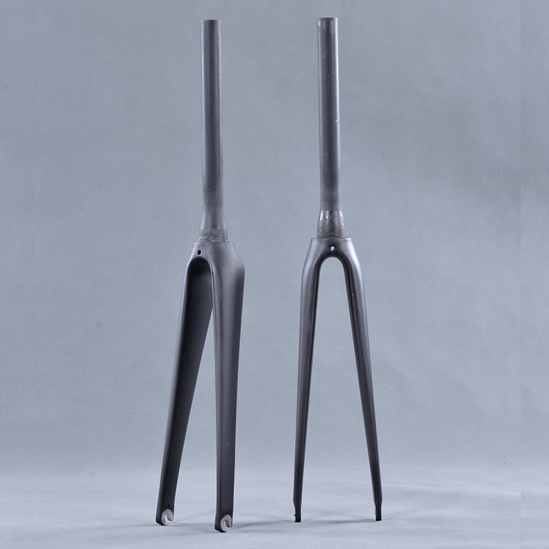Full Carbon Tapered road bicycle carbon fork 700c for fork with UD weave matte/glossy finish carbon road bike forks|carbon road bike fork|carbon fork 700c|fork 700c - title=