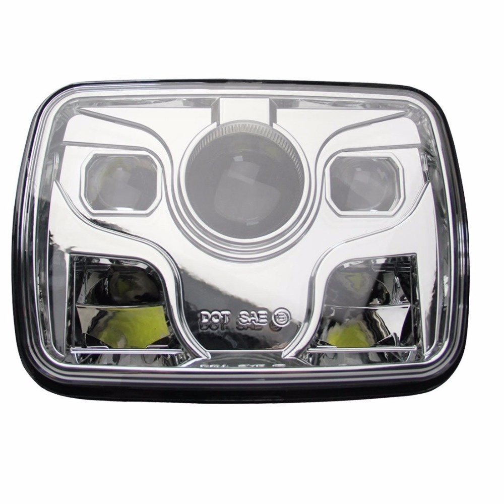 Auto Accessories Headlight 7 Square Motorcycle Fog Lights Led 1988 Mustang Rectangular 5x7 For Jeep Truck In Car Light Assembly From Automobiles Motorcycles