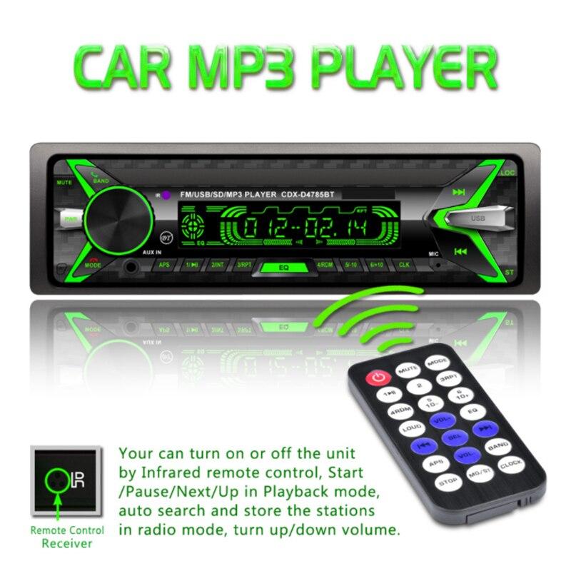 VEHEMO coloré effet d'éclairage détachable écran Bluetooth voiture Kit voiture lecteur MP3 voiture MP3 FM Auto Audio stéréo Automobile