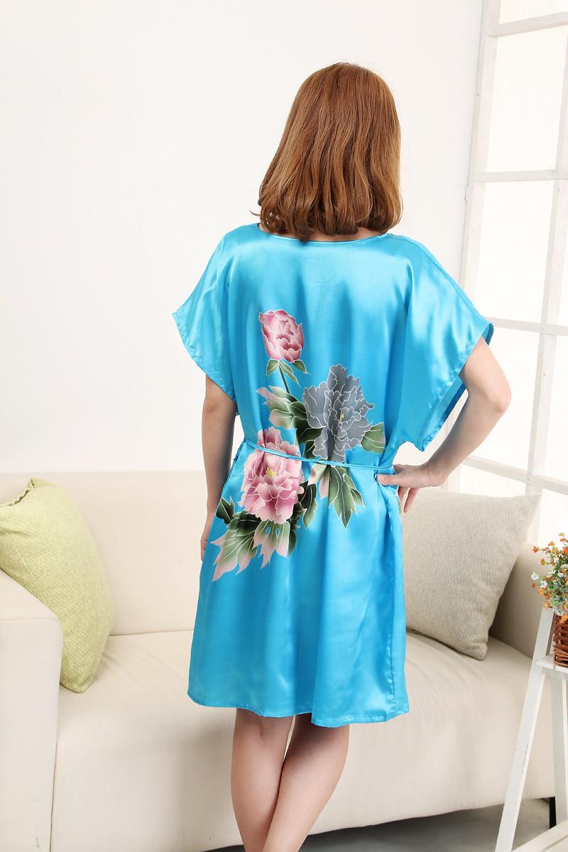Plus-Size-Women-s-Faux-Silk-Robe-Bath-Gown-Nightgown-Light-Blue-Sexy-Summer-Sleepshirts-New (1)