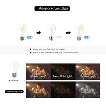 LED RGB Bulb Lamp E27 RGBW RGBWW Spotlight IR Remote Dimmable 5W 10W 15W Colourful Night Light 110V 220V Party Holiday Christmas
