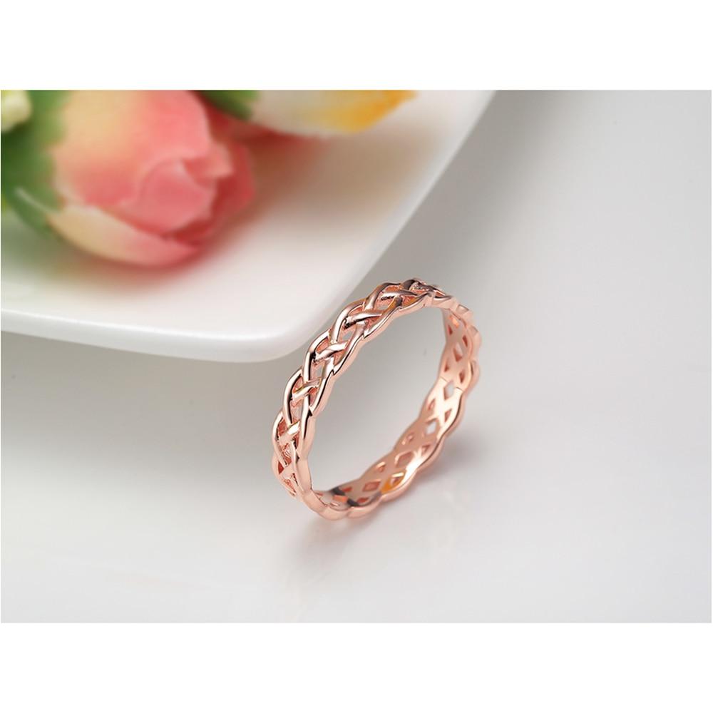 4 մմ ռոմանտիկ վարդագույն ոսկե 925 - Նուրբ զարդեր - Լուսանկար 4