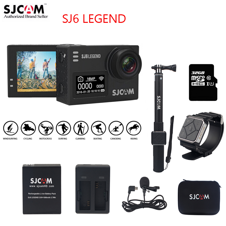 Original SJCAM SJ6 LEGEND Wifi 4K 24fps Notavek 96660 2.0