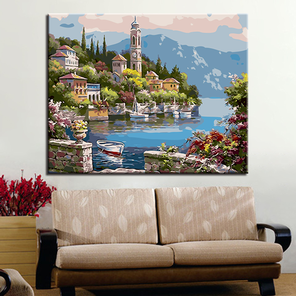 For Living Room Hand Unique Gifts Wall Art Lakeside