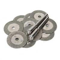 10 piezas 20mm Mini diamante molienda Rueda de corte hojas de sierra de disco sacapuntas corte Discos abrasivos herramientas rotativas para dremel