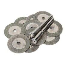 10 قطعة 20 مللي متر مصغرة الماس طحن قطع عجلة القرص شفرات المنشار مبراة قطع أقراص جلخ أدوات دوارة ل دريمل