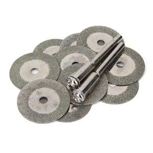 Image 1 - 10 Uds., 20mm, Mini disco de corte de diamante, disco de corte, hojas de sierra, afilador, discos abrasivos, herramientas rotativas para Dremel