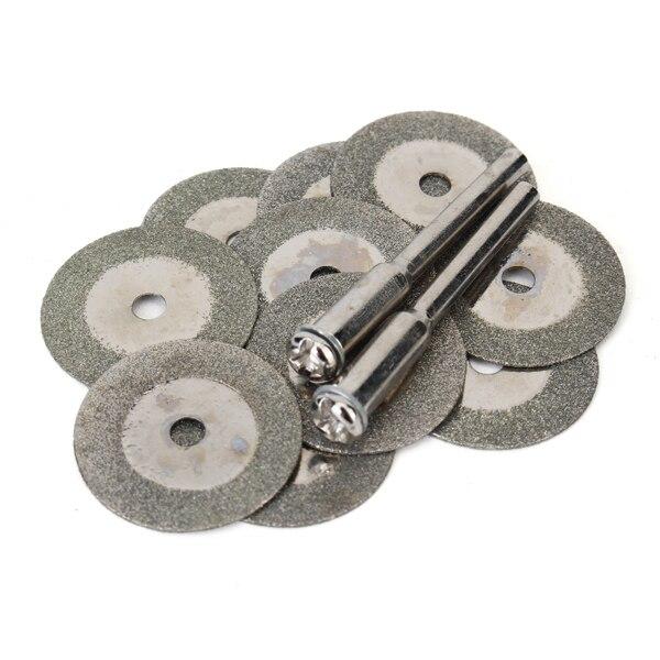 10 Uds., 20mm, Mini disco de corte de diamante, disco de corte, hojas de sierra, afilador, discos abrasivos, herramientas rotativas para Dremel