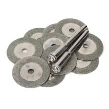 10Pcs 20mm 미니 다이아몬드 그라인딩 커팅 휠 디스크 톱 블레이드 샤프너 연마 디스크 절단 Dremel 용 로타리 도구