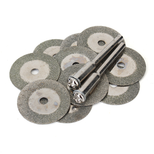 Image 1 - 10Pcs 20mm Mini Diamond Grinding Cutting Wheel Disc Saw Blades Sharpener Cut Off Abrasive Disks Rotary Tools for Dremel