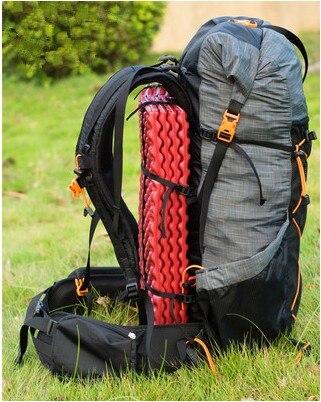 Acqua-resistente Zaino Da Escursione di Campeggio Leggero Pacchetto di Viaggio Arrampicata Zaino In Spalla Frameless Zaini 40 + 16L 3f ul gear