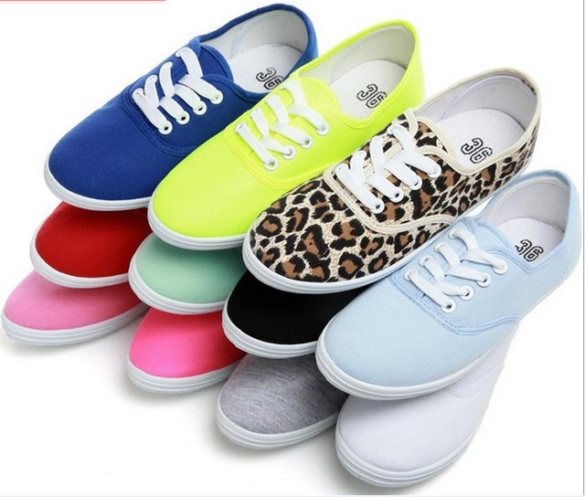 Women shoes canvas shoes zapatos mujer ladies shoes  2015 hot fashion women flat shoes 12 colors