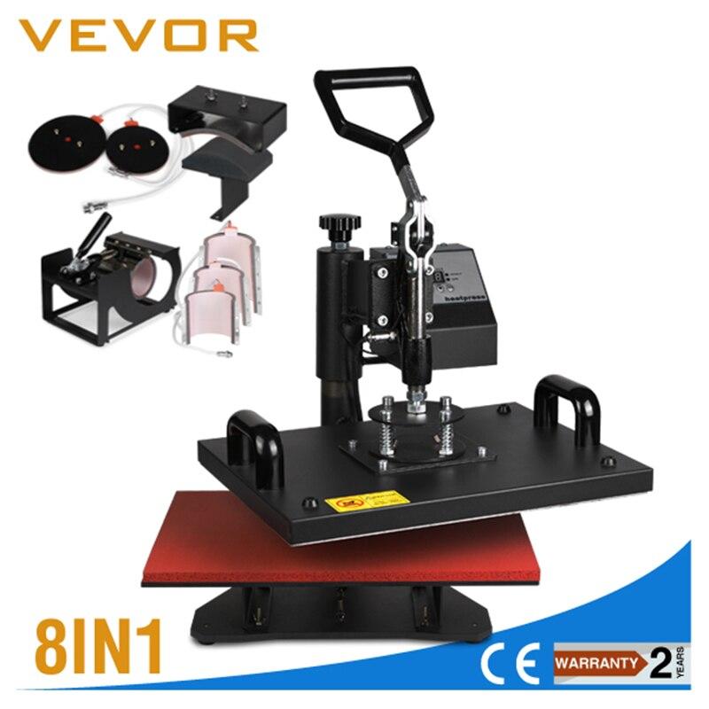 A ESTRENAR 8 en 1 Transferencia de Calor combinado máquina de impresión Prensa del calor de la máquina impresora de uso múltiple para la taza/ CAP/camiseta/teléfono