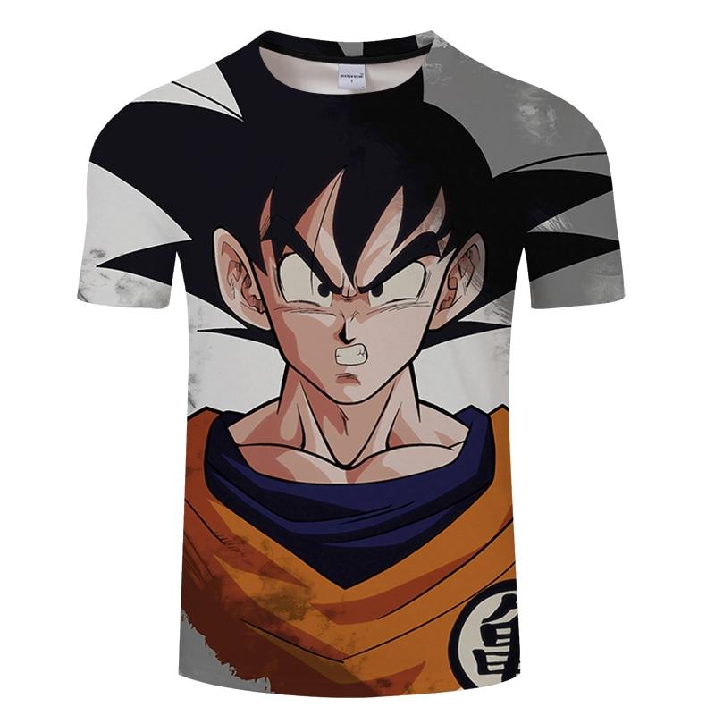 2019 New Dragon Ball Z T Shirts Men Super Saiyan Ultra Instinct Kids Goku Vegeta Print Cartoon T-Shirt Top Tees Plus Size S-6XL