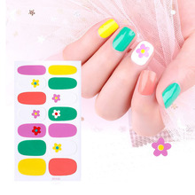 цена на 1pcs Nail Art Full Cover Self Adhesive Stickers Polish Transfer Tips Wraps Waterproof Nail Stickers Decals Manicure
