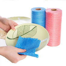 2pcs/lot Non-woven Kitchen Cleaning Cloth Disposable Eco-friendly Rags Wiping Scouring Pad Dishcloth Bathroom Washing