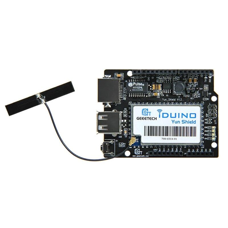 US $29 3 |Iduino Yun Shield Compatible with Arduino Leonardo UNO Mega2560  Duemilanove Linux WiFi Ethernet USB All in one free shipping-in Demo Board