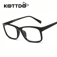 Kottdo New Fashion Myopia Optical Eye Glasses Big Frame Men Women Plain Glasses Eyeglasses Frame De