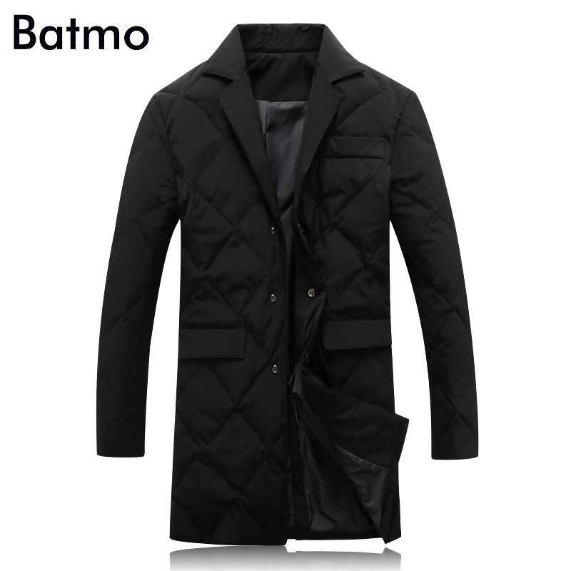 y17818 Men's Clothing Down Jackets Fast Deliver Batmo 2017 New Arrival Winter High Quality 80% White Duck Down Long Jacket Men,mens Trench Coat,winter Parkas Plus-size