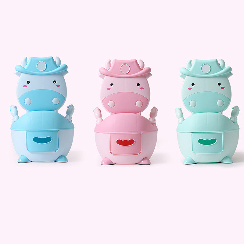 Kids Cartoon Baby Pot Cute Toilet Seat Pot For Potty Training Seat With Soft Mat Children's Potty Bowl Pot Training Toilet