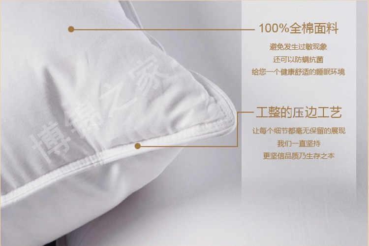 Один Подушка 90% белый гусиный пух подушки KING 20*36 дюймов Белый заполненные 34 унц. Fill Power 800 + белый гусиный пух Бесплатная доставка
