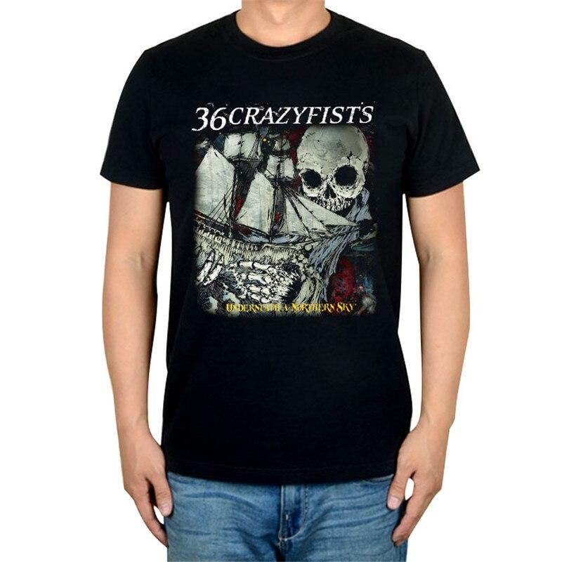 10 видов стилей Harajuku милые 36 crazyfists панк-рок белый черный рубашка ММА фитнес хлопок тяжелый металл Футболка с принтом Тис мяч - Цвет: 5