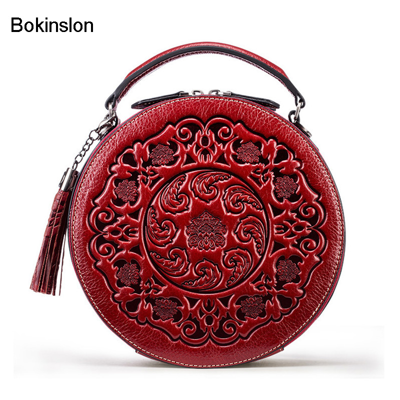 Bokinslon Lady Shoulder Bags Vintage Classic PU Leather Female Mini Handbags Fashion Solid Color Women Crossbody