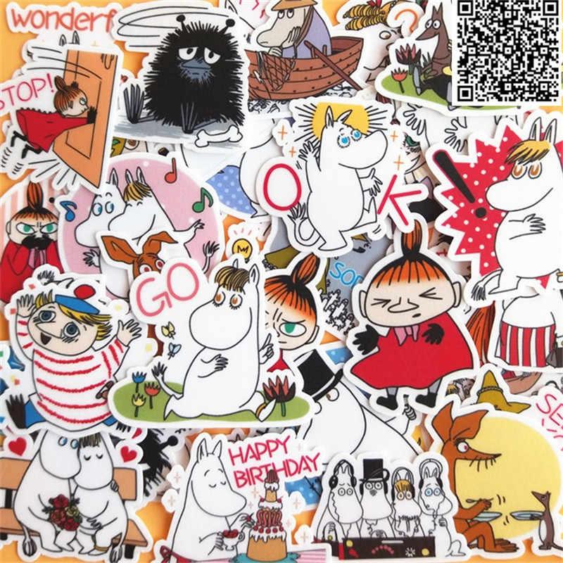 30 шт. мультфильм лошадь и владелец наклейки для домашнего декора на телефон книга macbook Ноутбук наклейка холодильник, скейтборд doodle игрушка
