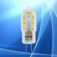 100 шт. светодиодный лампы G4 DC12V 12 Светодиодный s мини светодиодный Кукуруза лампочка SMD 2835 супер яркий заменить галогенные для люстра кристал