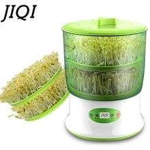 Uso Doméstico Máquina de Brotes de Soja de Gran Capacidad de Inteligencia JIQI Termostato Verde Semillas Creciente Máquina Automática De Brotes de soja de LA UE