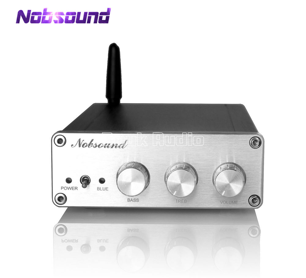 2018 Latest Nobsound Mini 2.1 Channel Subwoofer Digital Amplifier Stereo HiFi Bluetooth 4.0 Power Amp 150W+75*2W 2018 new nobsound 200 watts mini hifi tpa3116d2 power amplifier digital audio stereo music amp dual channel black chassis