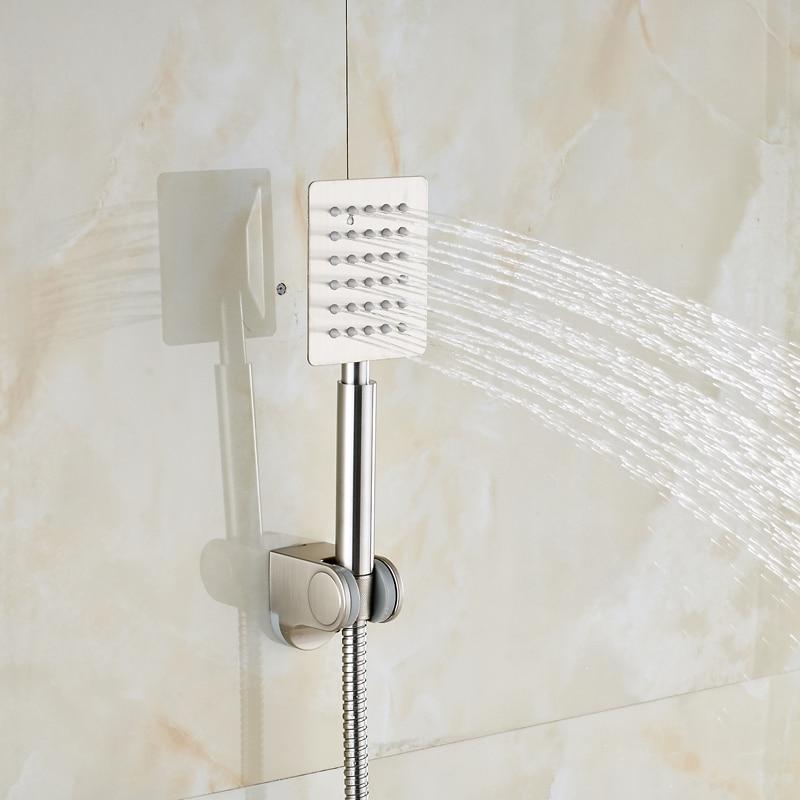 Nickel Brushed Bathroom Tub Shower Faucet Waterfall Tub Spout + ...