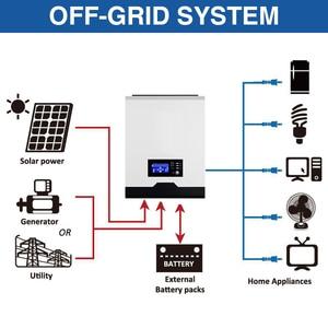 Image 3 - POWLAND 3kva Inverter Solare 2400W 220V 40A MPPT 3Kva Puro Inverter A Onda Sinusoidale 50Hz Off Grid Inverter 24V Caricabatteria inversor