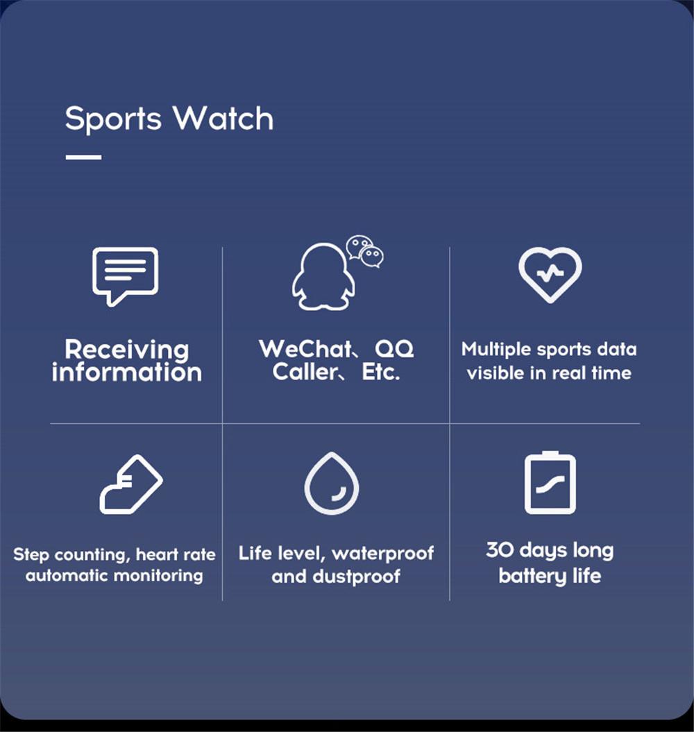 5-130435- Smart Watch Men Blood Pressure Waterproof Smartwatch Women Heart Rate Monitor Fitness Tracker Watch GPS Sport For Android IOS