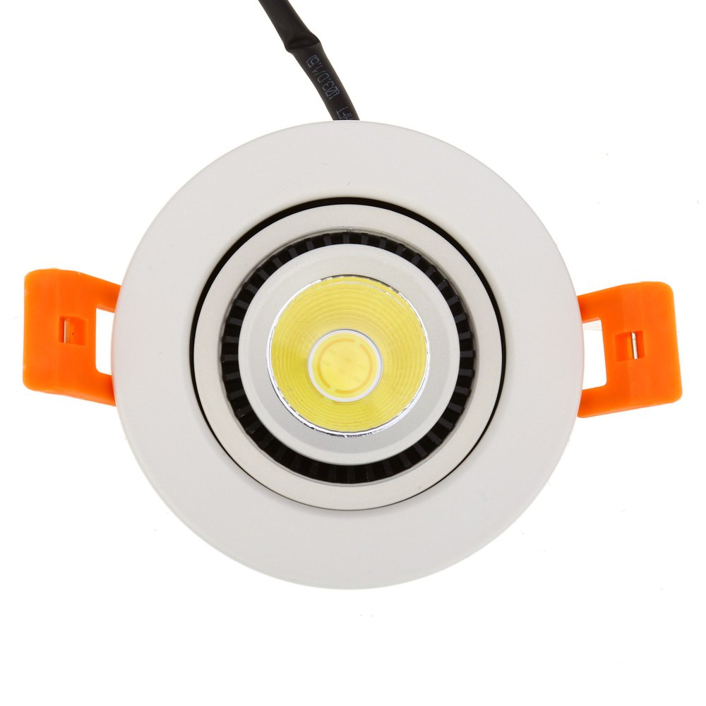 2016 New 10W LED Rotating Double Heads COB Gimbal Bedroom Spotlight 360 Degree Rotary Recessed Ceiling Light For Bathroom Hot